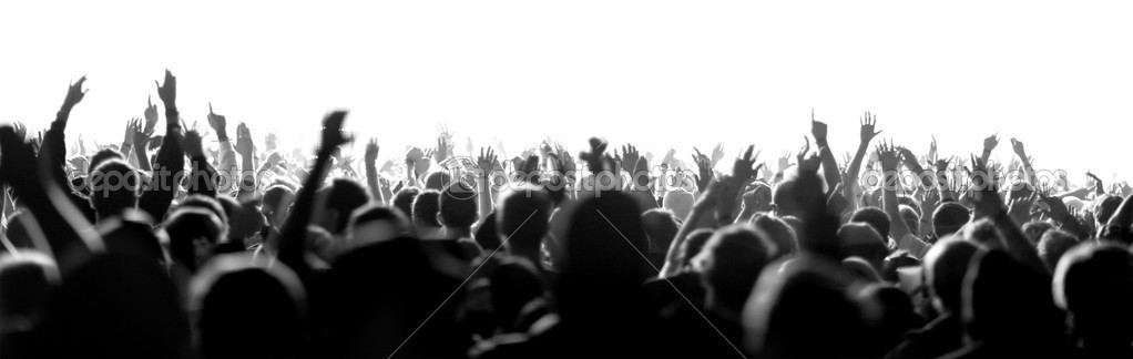 Shot of a live crowd at a concert — Stock Photo #13937607