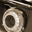 Stock Photo: Old analog medium format camera