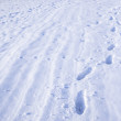 Footpath in snow - Stock Photo