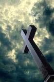 Cross and sky — Stock Photo