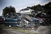 Car junkyard — Stock Photo