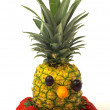 Face made out of fruits - Foto Stock