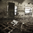 Old ruined abandoned room - Stock Photo