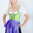 Girl in dirndl - Stock Photo