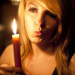 Candle girl — Stock fotografie