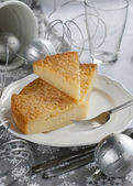 Gentle Pie on a Christmas Table — Stock Photo