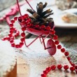 Christmas Decoration at the Table — Stock Photo