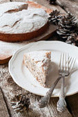 Portion of Christmas Pie with Powdered Sugar — Foto de Stock