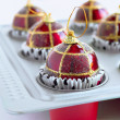 Funny Red Christmas Balls — Stockfoto