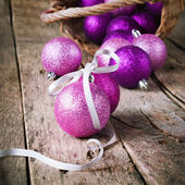 Composition with Brilliant Christmas Ball — Stock Photo