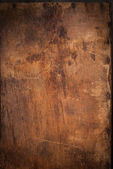 Wooden Panel with the Hammered Rusty Nails on the Edge — Stock Photo