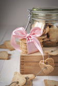 Cookies in the Shape of Heart on Wooden Boxes — Stock Photo
