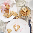Cookies from Shortcake dough on Festive Table — 图库照片