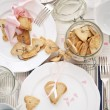 Stockfoto: Cookies from Shortcake dough on Festive Table