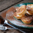 Lemon Tartlets decorated with Powdered sugar and cocoa — Stock Photo