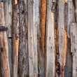 Various Wooden Color Planks beaten on a wall,  background — Stock Photo