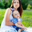 Young Mother with her son, Child has Cerebral palsy — Stock Photo #29500347