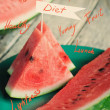 Concept of Healthy Life, Pieces of Water-melon  — Stock Photo