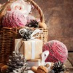 礼品复古圣诞卡片 — 图库照片