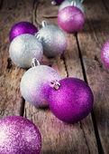 блестящий елочные шары — Стоковое фото