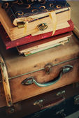 Old Vintage Albums and Trunks — Zdjęcie stockowe