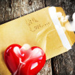 Valentine Card with Letter and Aromatic Candle — 图库照片 #40019841