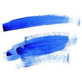 Traços de linhas com tinta azul — Fotografia Stock