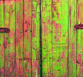 Colored Shabby Wooden Gate — Stock Photo