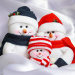 Christmas Snowman Family — Stock Photo