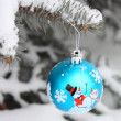 Stock Photo - Christmas Tree Ball Decoration Outdoors — Stock Photo