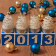 Royalty-Free Stock Photo: 2013 New Year Card - Stock Photo