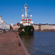 Photographed in Helsinki, Finland - March 31st. Arctic Sunrise stationery at harbor. — Stock Photo #34745003
