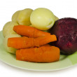 Royalty-Free Stock Photo: Boiled vegetables on a plate isolated