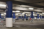 Night underground parking — Stock Photo