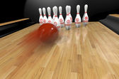 Bowling.3d rendr — Stock Photo