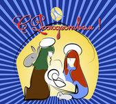 Postcard - Christmas greetings — Stock Photo