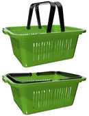 Plastic basket for shopping — Stock Photo