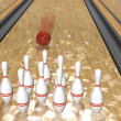 Bowling.3d rendr — Stock Photo #18809463