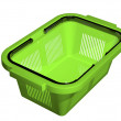 Empty green shopping basket - Stock Photo