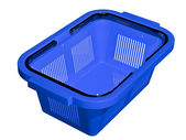 Empty blue shopping basket — Stock Photo