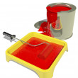 Red paint — Stock Photo