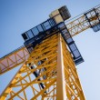Building tower crane on the sky background — Stock Photo