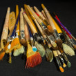 Stock Photo: Artist brushes for painting