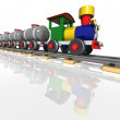 Toy train with oil tanks. 3d render — Stock Photo #31861097