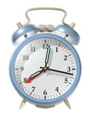 Blue alarm clock ringing. — Foto de Stock
