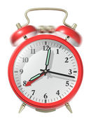 Red alarm clock ringing. — Stock Photo
