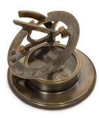 Old mariner's compass of the XIX century — Stock Photo