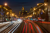 Moscow Evening. View on Garden Ring — Stock Photo