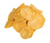 Chipsy na białym tle — Zdjęcie stockowe