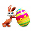 Bunny with big egg — Stock Photo #20986697